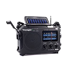 41%2B9GosRKFL. SS300  - Kaito KA500 5-way Powered Emergency AM/FM/SW NOAA Weather Alert Radio with Solar,Wind Up,Dynamo Crank,Flashlight and Reading Lamp, Cellphone Charger,Color Black