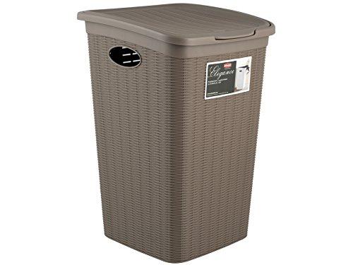 Stefanplast 30051 Wäschekorb mit praktischem Klappdeckel und Fassungsvermögen, 50 L