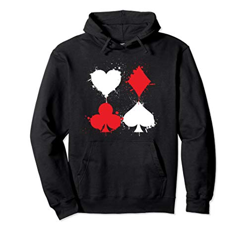 Playing Cards Poker Hoodie Heart Spade Diamond Club Pullover