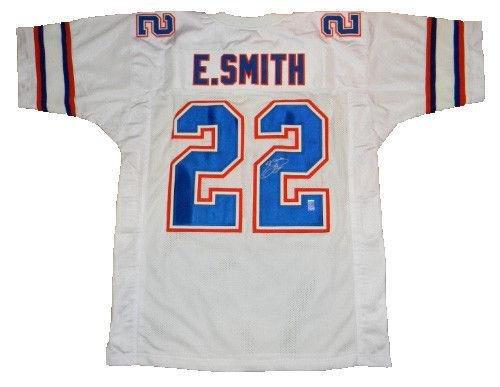 Emmitt Smith Autographed Jersey - #22 White Gtsm Holo - GTSM Certified - Autographed College Jerseys - Jersey 22 Smith Emmitt