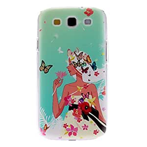 DUR Butterfly Girl Pattern Hard Case for Samsung Galaxy S3 I9300