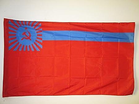 AZ FLAG Bandera de la REPÚBLICA SOCIALISTA SOVIÉTICA DE Georgia 90x60cm para Palo - Bandera RSS Georgiana 60 x 90 cm: Amazon.es: Jardín