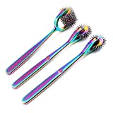 OdontoMed2011 Lot of 3 Pieces Rotating Spur Neurological Wartenberg Pinwheel 2 + 3 + 7 Heads Stainless Steel Multi Color Rainbow Pin Wheel Diagnostic Equipment