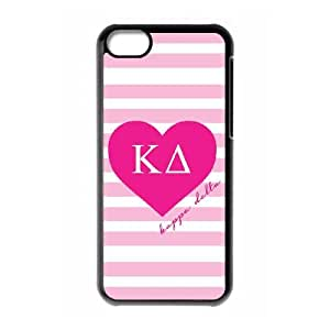 iPhone 5c Cell Phone Case Black Kappa Delta Pink Stripes BNY_6798290