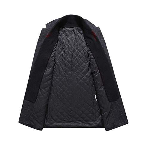 Longue Pour Laine D'affaires Manteau Section Hommes De Black Rlrl Épaississant Hiver R8q7Ttx