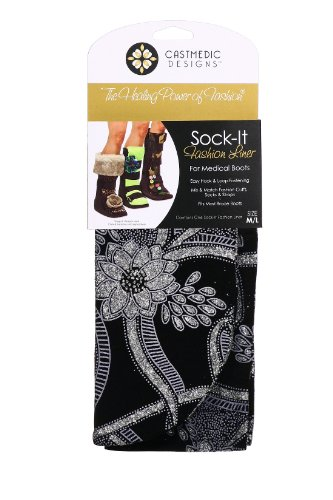 CastMedic Designs Sock-It Dressy, Black, Small/Medium