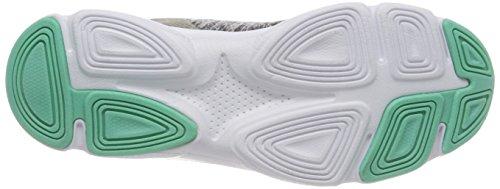 Lico Damen Stretch Sneaker Grau (Grau/Tuerkis)