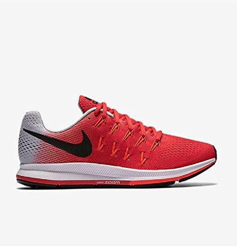 Nike Men's Air Zoom Pegasus 33, Action Red/Black-pure Platinum-total Crimson - 13 D(M) (Mens Action Sports Shoes)