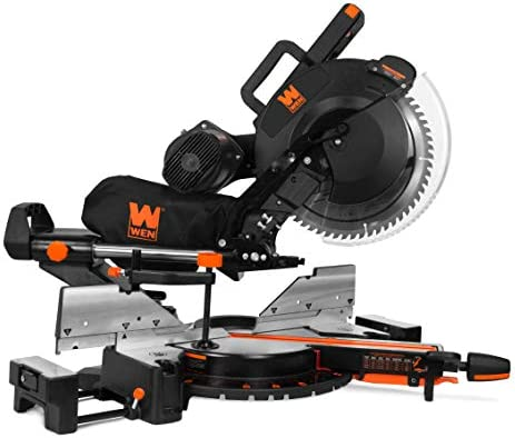 WEN MM1214 15-Amp 12 Dual Bevel Sliding Compound Miter Saw with Laser