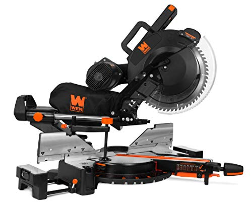 WEN MM1214 15-Amp 12″ Dual Bevel Sliding Compound Miter Saw with Laser