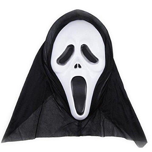 Miaomiaogo Full Face Scream Mask Horror Masquerade Halloween Carnival Party Masks ()