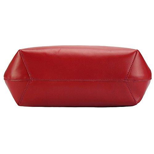 Rosso 218 Chiaro Market Mano Pelle Beatrice In Leather Borsa Florence Vera zaTwxfnOgq