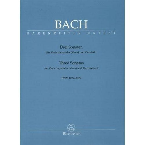 Gamba Sonatas (Bach, J.S. - 3 Viola da Gamba Sonatas BWV 1027 1029 for Viola and Piano -by Eppstein Barenreiter)