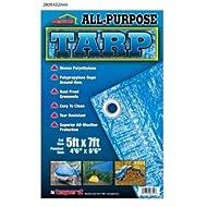 All Purpose Polyethylene Blue Tarp 5'x7' (Pack of 3)