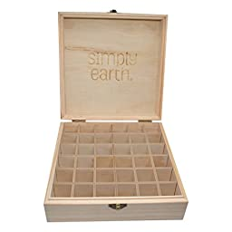 Wooden Essential Oil Storage Box (Fits 36) by Simply Earth