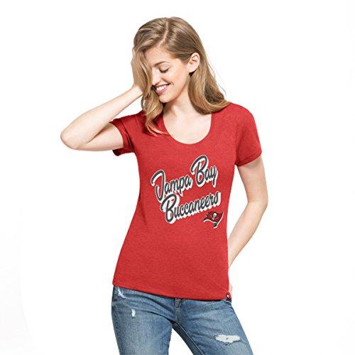 '47 NFL Tampa Bay Buccaneers Women's Club Scoop Tee, Large, ()