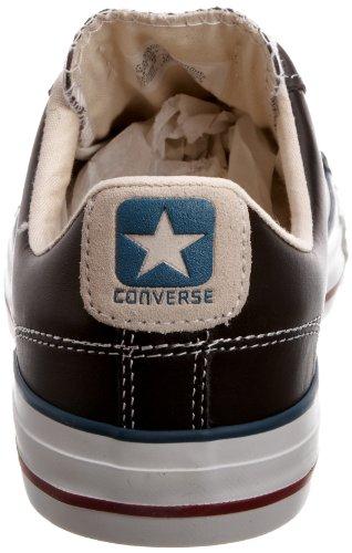 Converse - Zapatillas de cuero unisex Negro