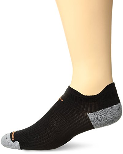 Tommie Copper Men's Athletic Lightweight Compression Ankle Socks, Black/Grey, Size (Sock Guy Running Socks)