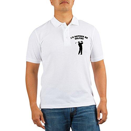 Driver Short Sleeve Pique Shirt (CafePress - I'd Rather Be Golfing - Golf Shirt, Pique Knit Golf Polo)