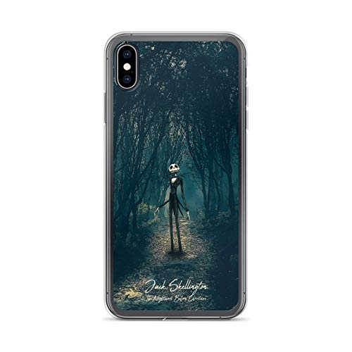 iPhone Xs Max Case Anti-Scratch Motion Picture Transparent Cases Cover The Nightmare Before Christmas Jack Skellington Movies Video Film Crystal Clear
