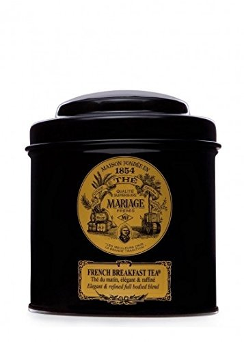 Breakfast Tea Caddy - MARIAGE FRERES. French Breakfast Tea, 100g Loose Tea, in a Tin Caddy (1 Pack) Seller Product Id MB24LS - USA Stock