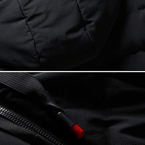 Day lin Épaissie En Mode Plein Couleur Capuche C Vêtements Solide Hommes Outwear Hiver Taille Chaud Grande Doudoune Casual Coton À Noir Liquidation Manteau Air rddPnx6