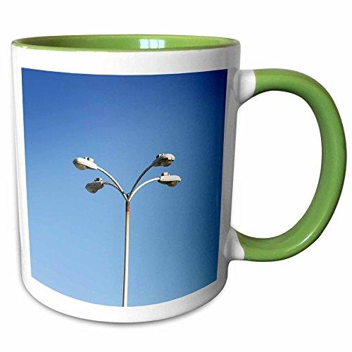 3dRose Henrik Lehnerer Designs - Object - Parking lot light at the Oxnard airport - 11oz Two-Tone Green Mug - Outlet Oxnard