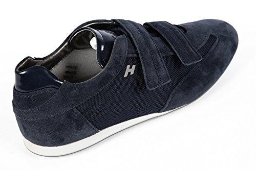 Hogan chaussures baskets sneakers homme en daim olympia blu