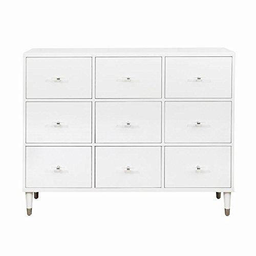 (Pulaski D204-054 Modern White Nine Drawer Chest,)