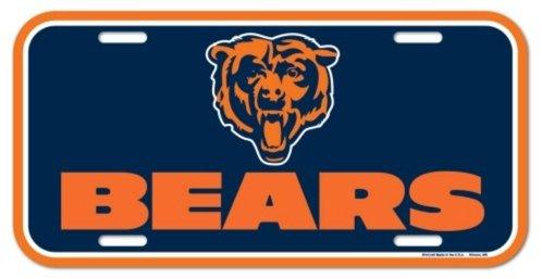 NFL Chicago Bears 6''x12'' Plastic License Plate
