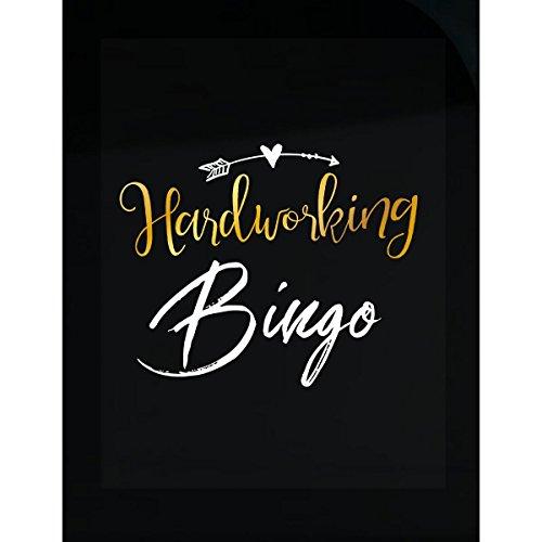 My Family Tee Hardworking Bingo Name Mothers Day Present Grandma - Sticker by My Family Tee