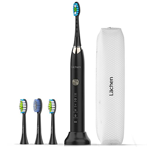 Lächen Rechargeable Sonic Toothbrushes 5 Modes Electric Toothbrush for Adults Waterproof 60 Days Use Clean as Dentist with 4 Replacement Heads,RM-T7 ()