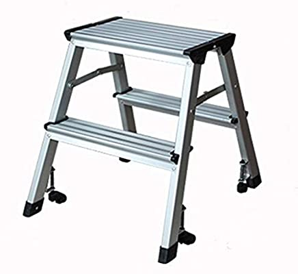 QQXX Taburete, Escalera de Aluminio multifunción Escalera Plegable ...
