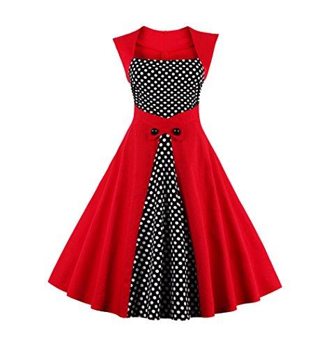 U8Vision - Vestido - Noche - para mujer Rojo