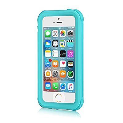 iPhone 5S Waterproof Case, Meritcase iPhone SE/5S/5 Waterproof Shock-Resistant Dirtproof Snowproof Case for Swimming by meritcase