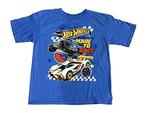 - Hot Wheels Boys Girls Made to Race Short Sleeve Shirt (4-8) (M (8))