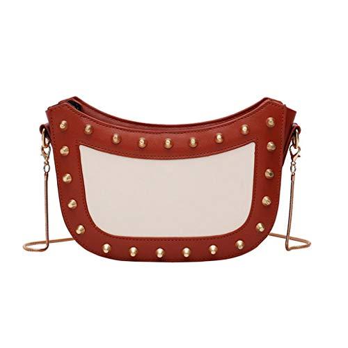 DZTZ Women's Fashion Patchwork Retro Shoulder Bag Handbag Bag Small Square Bag ()