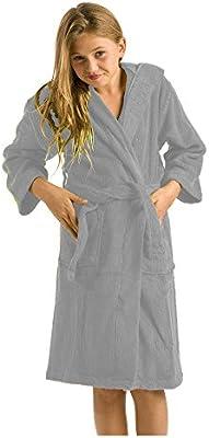 Kids Boys Terry Bamboo Cotton Hooded Robe Bathrobe Girls