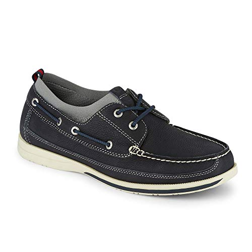 - Dockers Mens Homer Smart Series Leather Boat Shoe with NeverWet, Navy, 10 M
