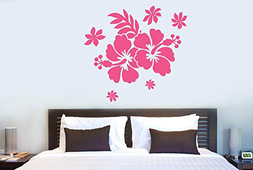 CUT IT OUT Hibiscus Flower Wall Stickers and Art Decals...