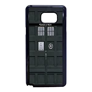Samsung Galaxy Note 5 Phone Case Black Doctor Who WQ5RT7548133
