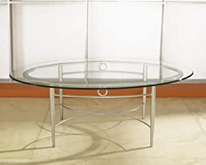 Amazon Com High Point Coffee Table With Oval Glass Top