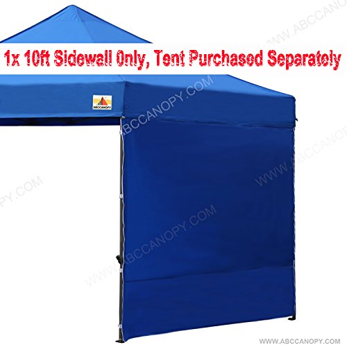 ABCCANOPY (15+colors) 10′ Sun Wall for 10'x 10′ straight leg pop up canopy Tent, 10′ Sidewall kit (1 Panel) with Truss Straps, (Blue)