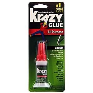 Krazy Glue KG92548R Instant Krazy Glue 0.18-Ounce All Purpose Brush
