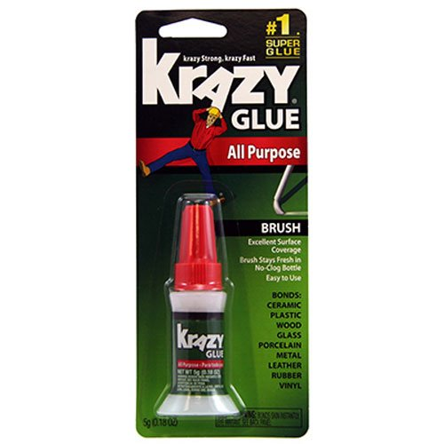 Krazy Glue KG92548R Instant Krazy Glue 0.18-Ounce All Purpose Brush