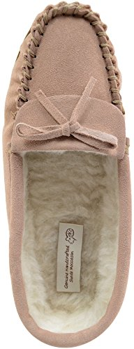 Lining Sheepskin Moccasins with SNUGRUGS Camel Womens Wool Ladies Slippers Suede qxxtfI8