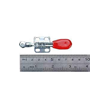 HanKun Hand Tool Toggle Clamp ntislip Red Horizontal Clamp 201-A Quick Release Tool 5 PCSl