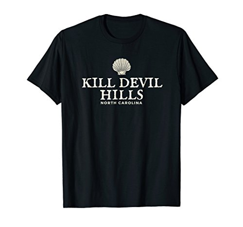 Kill Devil Hills T-Shirt, North Carolina Ocean Shell Tee Devil Womens Dark T-shirt