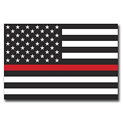 Thin Red Line American Flag Magnet Decal 4x6 Heavy Duty for Car Truck SUV - in Support of Our Firefighters and Local Fire Departments: Automotive