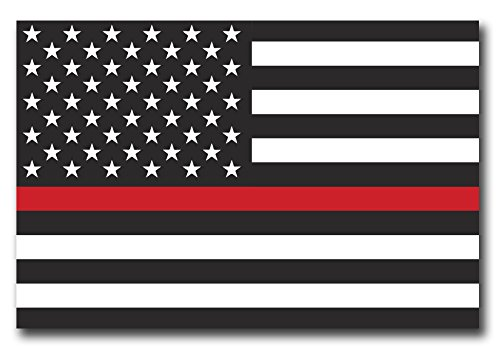 (Thin Red Line American Flag Magnet Decal 4x6 Heavy Duty for Car Truck SUV - in Support of Our Firefighters and Local Fire Departments)